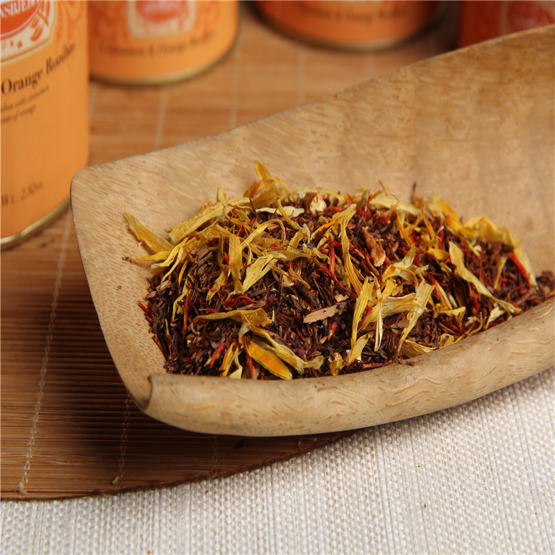 Factory Wholesale Tea Aromatic Rooibos Cinnamon Scents Orange natural flower fruit tea leaves loose canister - 4uTea | 4uTea.com