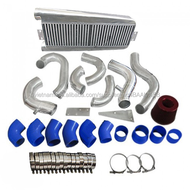 FMIC Intercooler Piping Kit + Intake Lọc Đối Với 87-93 Mustang 5.0 Supercharger