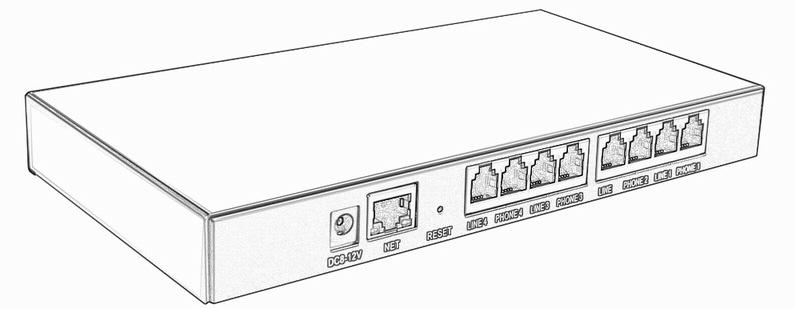 4-Line Bağımsız P2P Ağ Ses Kaydedici, Çok Noktalı Bağlantı Noktaları / Kanallar CMS yazılımı aracılığıyla Gömülü Bulut Telefon Kaydedici