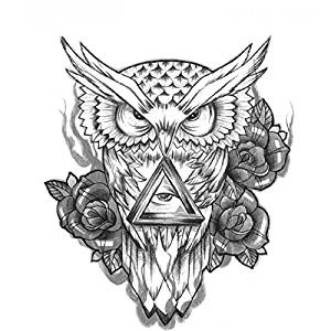Unique Fashion Removable Owl Tattoo Sticker Waterproof Temporary Tattoos Men Women Leg Arm Body Art Decals [ 1 pc ] by exo.nu