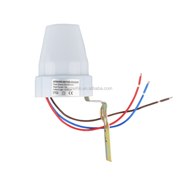 automatic photocell motion sensor switch for street light ac day