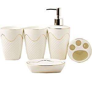 European bathroom five sets of wash sets of bathroom supplies sets of mouthwash cup ceramic bathroom use