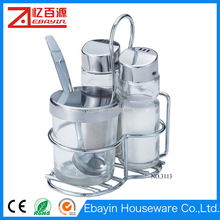 China supplier glass cruet sets spice jars 100ml
