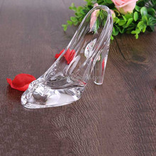 High quality souvenir Cinderella's crystal shoes for wedding decoration