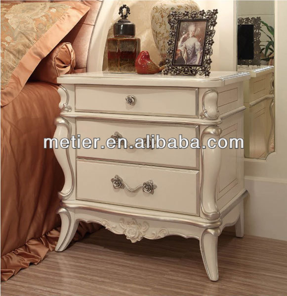 7fef5e892c european style white color classical nightstand table bedroom furniture  bedside table design