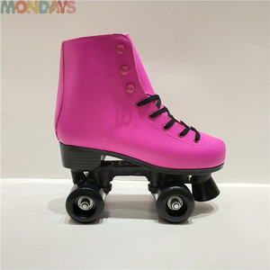 Customized Color and PVC Shell Leather Roller Skates Quad Skates Shoes