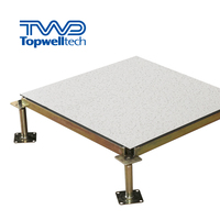 600*600mm Steel Encased Calcium Sulphate Network Raised Access Floor For Data Entry