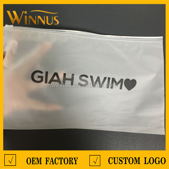 custom logo print lingerie bra socks underwear bikini swimwear ziplock packaging zippered plastic bag