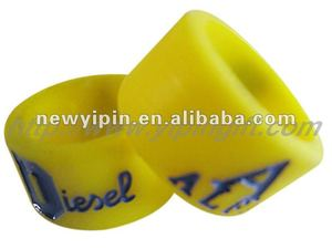 Party custom promotional gift wide silicone ring with logo