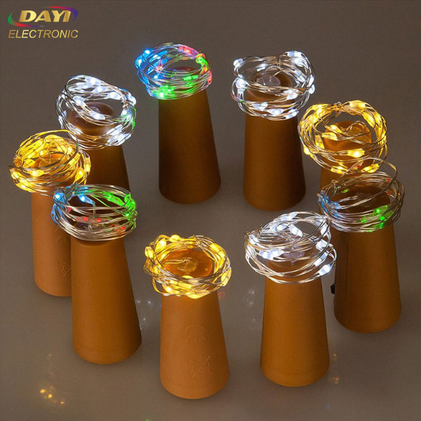 Wine stopper bottle cork light with string light for christmas or party