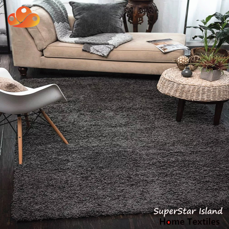 2019 best selling price plain style white faux fur rug