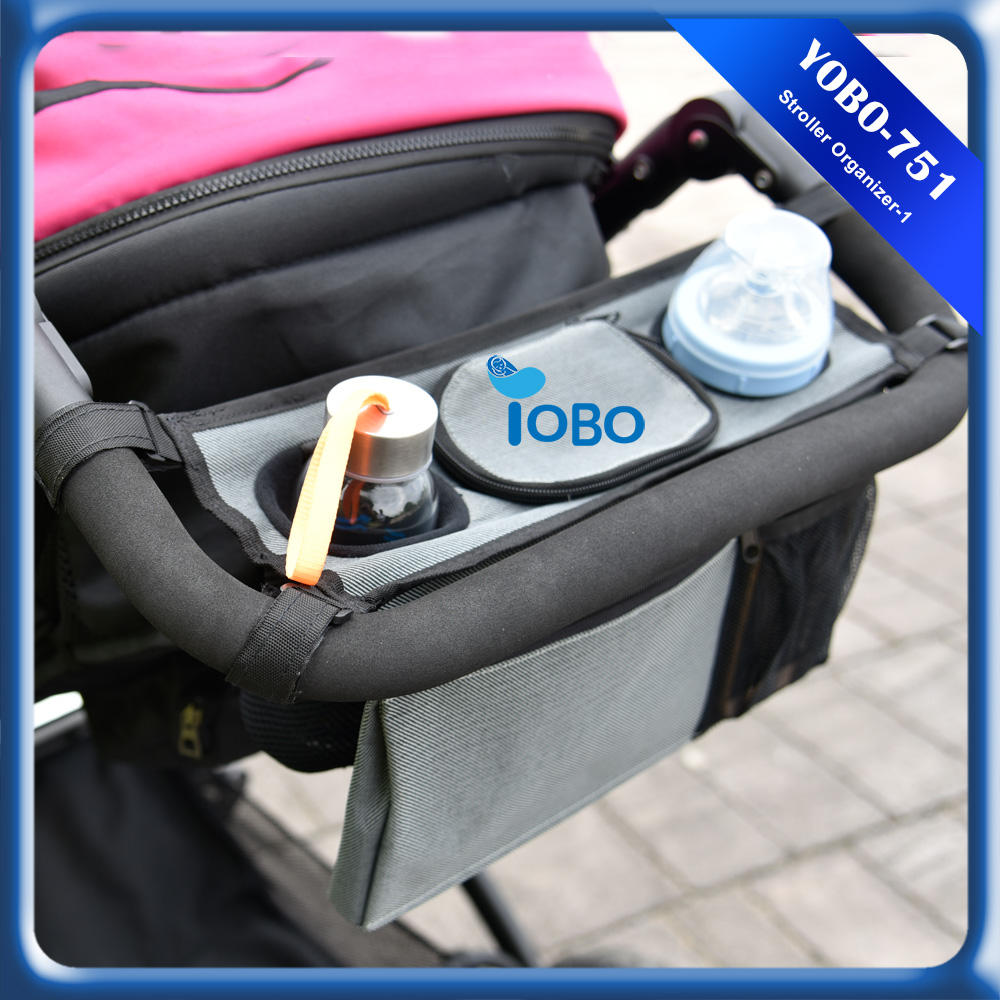 Newest Convenient Stroller Organizer Bag with Storage Insulated Cup Holders