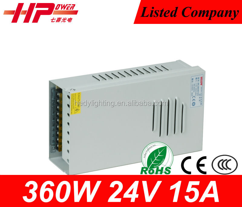 Factory price CE RoHS constant voltage AC to DC single output rainproof 30A 360W 12V switch power supply hs code led driver