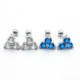 Fashion Jewelry 16G Triple CZ Tragus/Cartilage Barbell Ear Piercing Rings Stainless Steel Body Jewelry