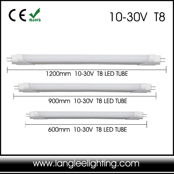 New T8 Low Volt LED Tube Lighting T8 12V 24V 10-30V LED Tube Light