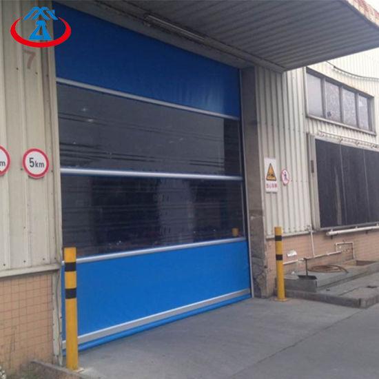 product-Zhongtai-Wholesale Blue Coloured PVC Quick Shutter Door Electric Fast Rapid Rolling Shutter