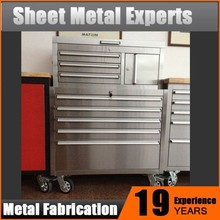 Professional Heavy Duty Mechanics Stainless Steel Metal Tool Cabinet