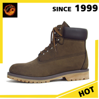 Wholesale China Shoes Coffee Nubuck Leather Men Boots Work boots Shoes Safety