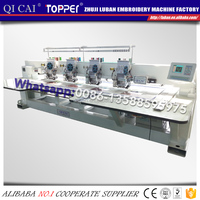 4in1 mixed flat sequin cording towel computerized embroidery machine