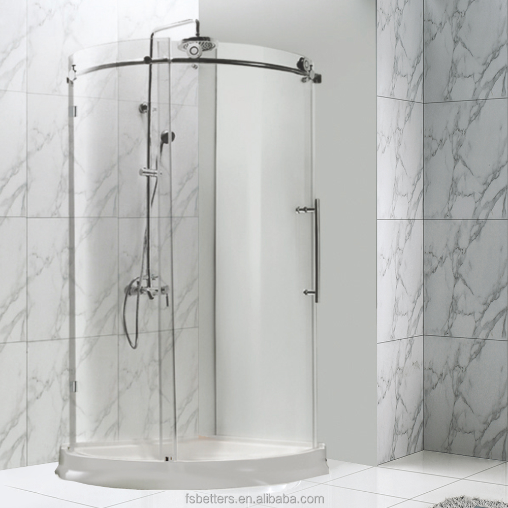 Acrylic Glass Bathroom Sliding Door Shower Screen Acrylic Glass