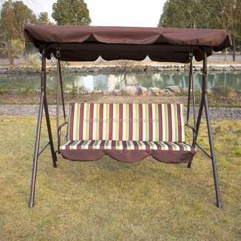 Outdoor 3 Person Patio Cushioned Porch Swing Swg 000111