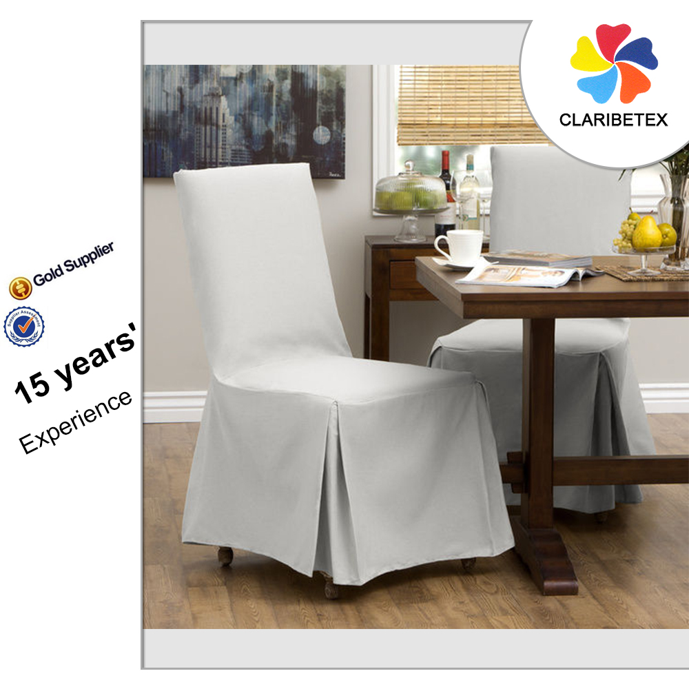 Good Business Reputation White Cotton Home Chair Cover, Chair Slipcover