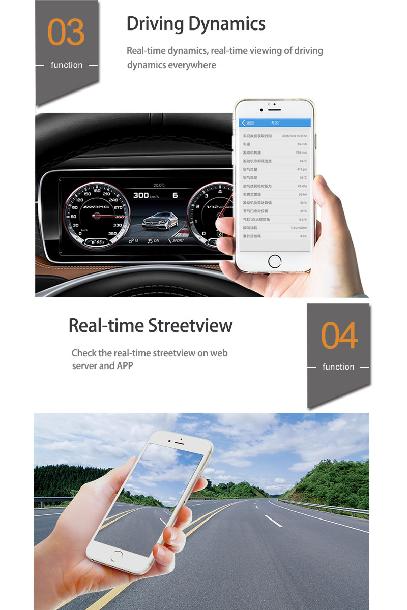 Cars Driving behavior obd Diagnostic 2G 3G 4G OBD2 Gps tracker Data reading via GSM/GPRS/WIFI