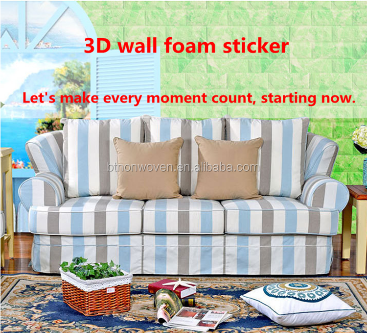3D Pvc/Pe Foam Vinyl  Tile Embossed Wall Stickers/Waterproof Tile Stickers Quotes