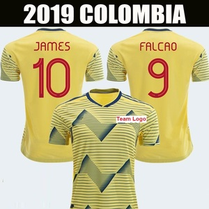 aa021b8ac89 Customized Football Jersey 2019 Copa America Colombia Soccer Jerseys