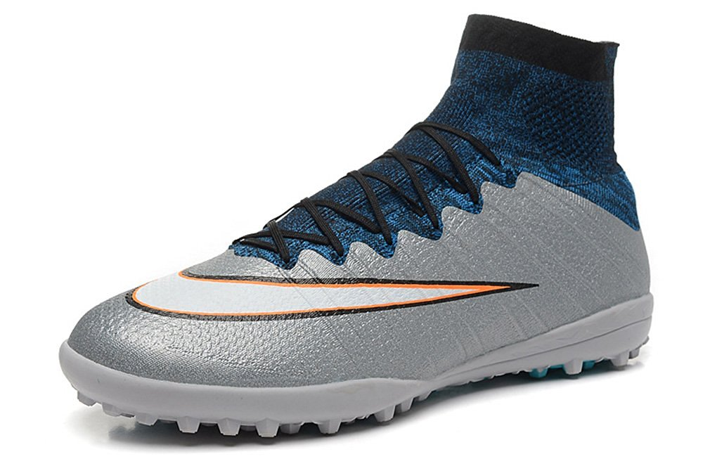 a2fa24fa528f ... ACC High Top Football Shoes Soccer Boots. Get Quotations · Men's Mercurial  X Superfly IV CR TF - Firm Ground - Metallic Silver-White-