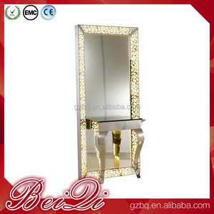 Factory Price Barber Shop Cheap Salon Furniture Mirror Station Styling Hair Salon Wall Mirror For Sale