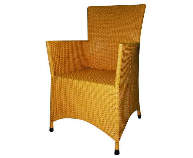 Modern style rattan furniture chair with steel frame