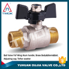 brass cock ball valve male thread mounted BSP cast copper iron ball o-ring PTFE seated brass ball valve for water