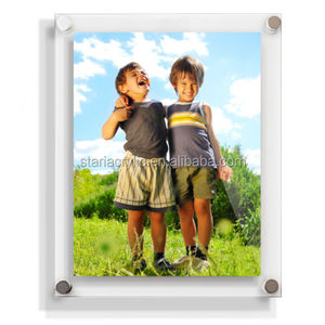 Clear Modern Acrylic Picture Photo Frames Wall Mounted All Sizes with Best Value
