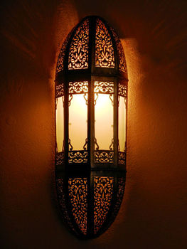 moroccan darken metal wall light sconce and its openwork brass pattern moroccan arts and crafts. Black Bedroom Furniture Sets. Home Design Ideas