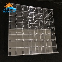 Promotional Large Customized Acrylic Display Box Model Plexiglass Acrylic Wall Mount Table Model Car Toy Display