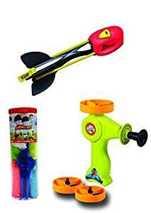 Aeromax Sky Scraper, Sky Blaster and Tangle Free Parachute Flying Toy (3 Piece Bundle)