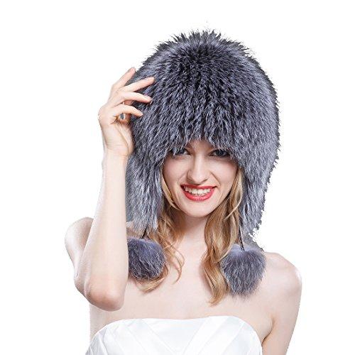 1e476f4d83c Buy Ursfur Real Fox Fur Russian Ushanka Hat Women Ball Trapper Ear Flap  Bonnet with Pom Poms Winter Earflap Bomber Caps Dropshipping in Cheap Price  on ...