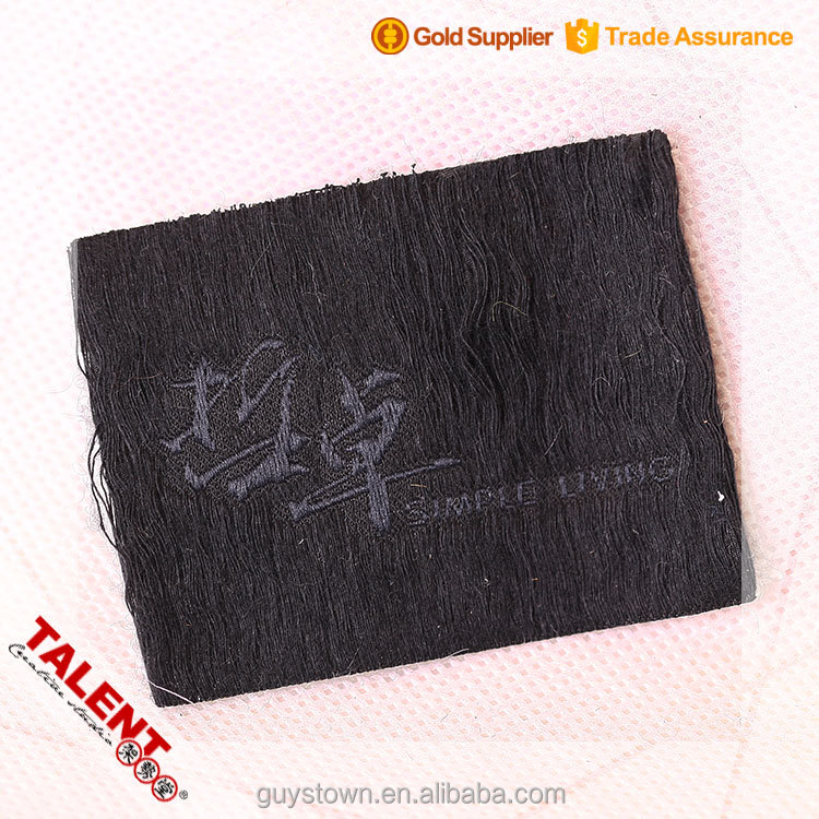 custom Originality Special imitation fur woven label patch for garment