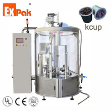 Automatic rotary capsule coffee KCUP filling and sealing machine