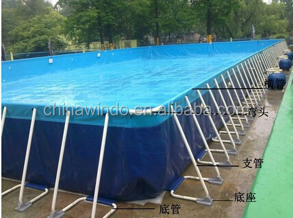 large size easy set pvc pipe plastic metal seel frame pool