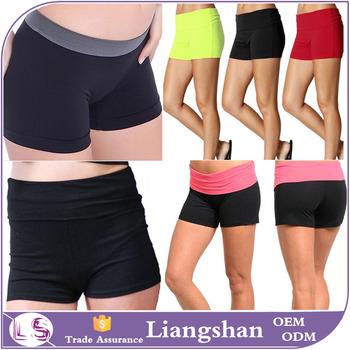 0ecd9c6687 Women Sexy YOGA SLIM Panties Boy Shorts Mini Brief COTTON / SPANDEX high  waisted BOOTY SHORTS