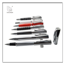 2018 business Black Retractable Nice Man Executive Ball Best Pen Set For Gift
