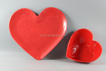 Red Melamine Heart Plates And Heart Bowls For Valentine\u0027s Day & Red Melamine Heart Plates And Heart Bowls For Valentine\u0027s Day - Buy ...