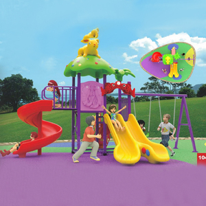 Best-selling outdoor playground amusement equipment with plastic children spiral slide