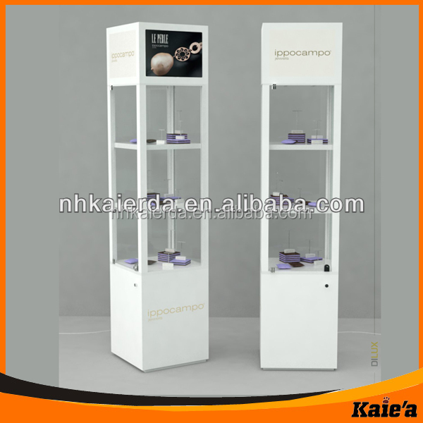 Used Wall Mount Glass Display Case With Light