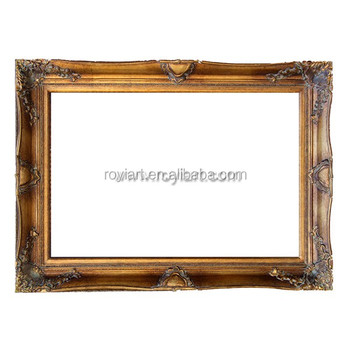 Royiart Vintage Baroque Wooden Ornate Picture Frame For Oil ...