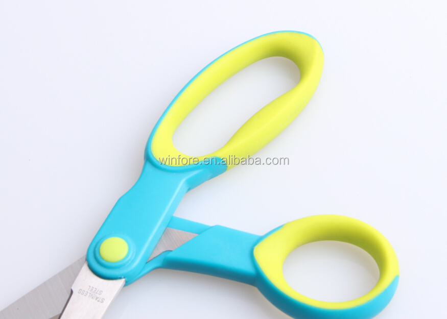 Double Colors Stainless Steel Household Scissors With