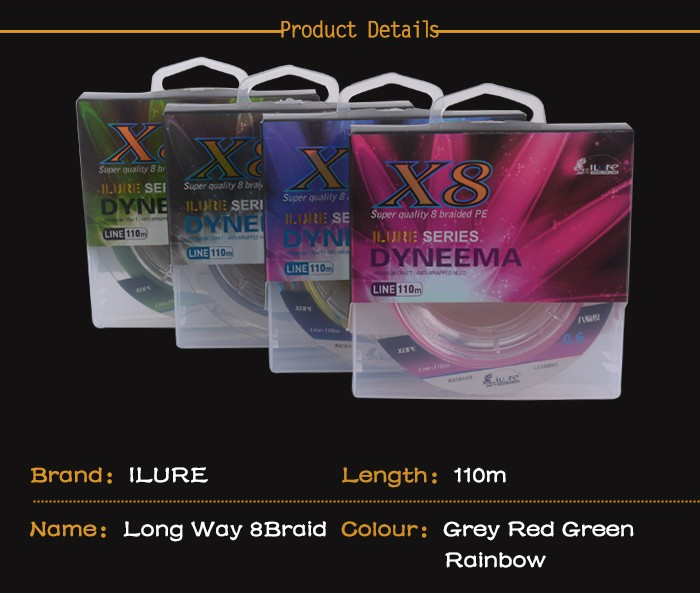 Multicolor 100m 8 Braided Fishing Line For Sell