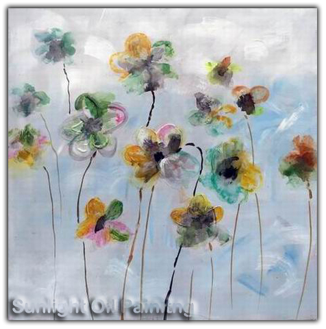 home/hotel decoration flower painting reproduction canvas wall art oil paintings